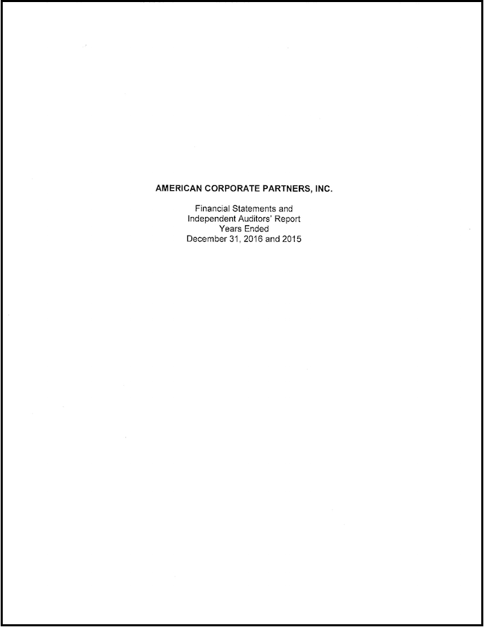 Financials Page Cover