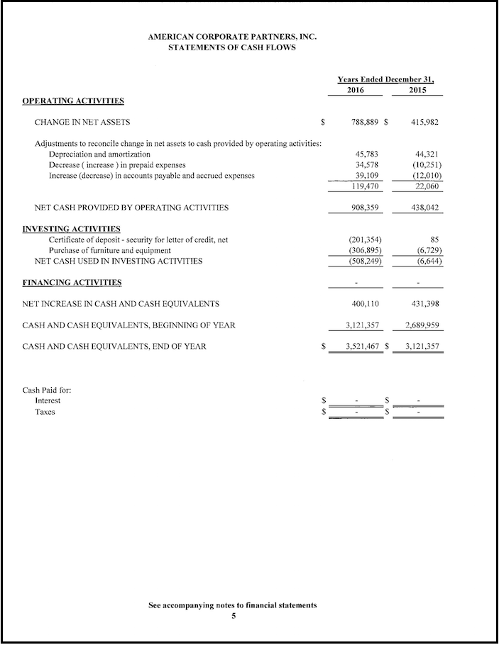 Financials Page 5