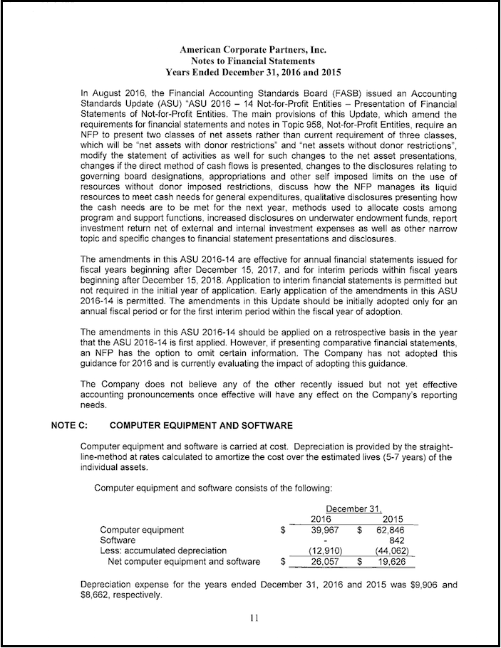 Financials Page 11