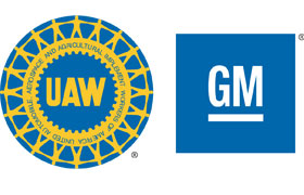 General Motors and United Automobile Workers logos