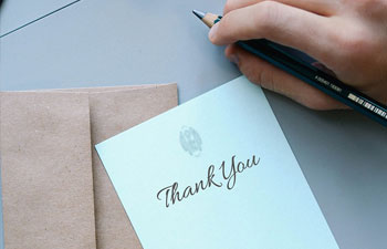 Writing a Thank You Note